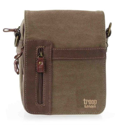 Troop London classic canvas across body bag trp0366 in brown
