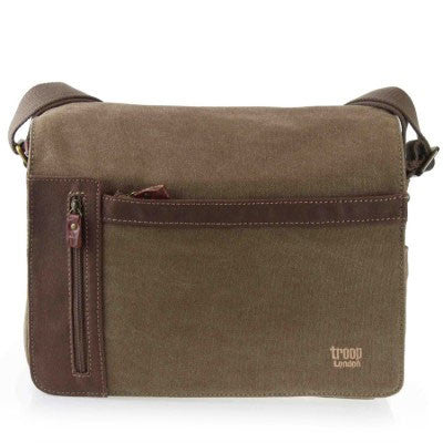 Troop London classic canvas messenger bag trp0365 in brown