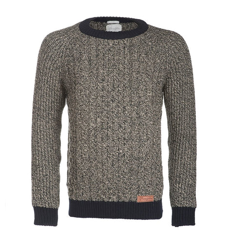 Walter Arran Jumper - Navy/Bark