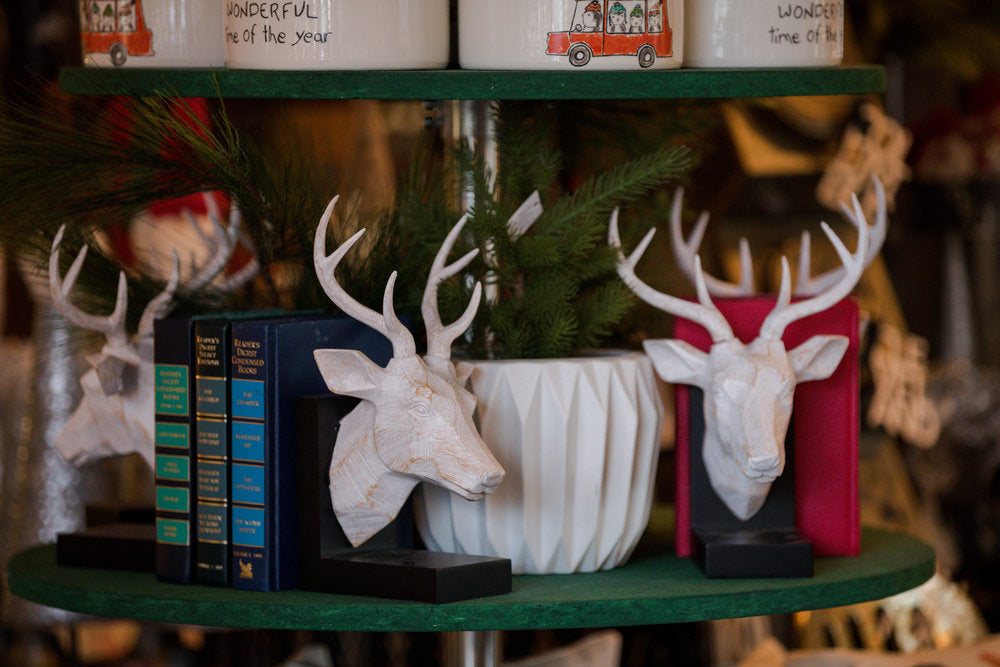 Joesph Deer Bookends, $60.00