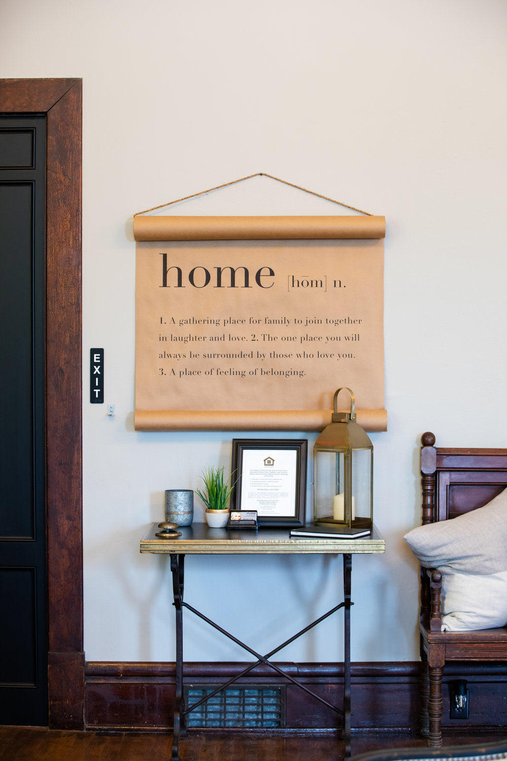 home scroll signage