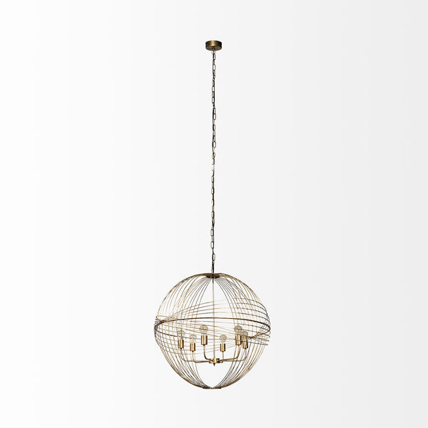 Chiron II Gold Chandelier