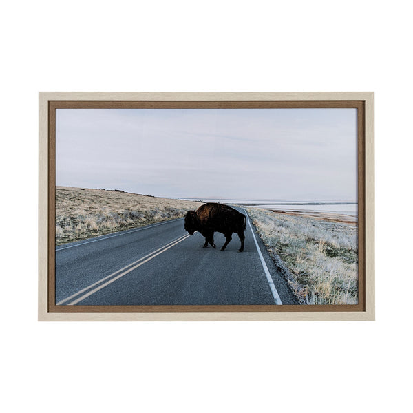 Bison Crossing Framed Art