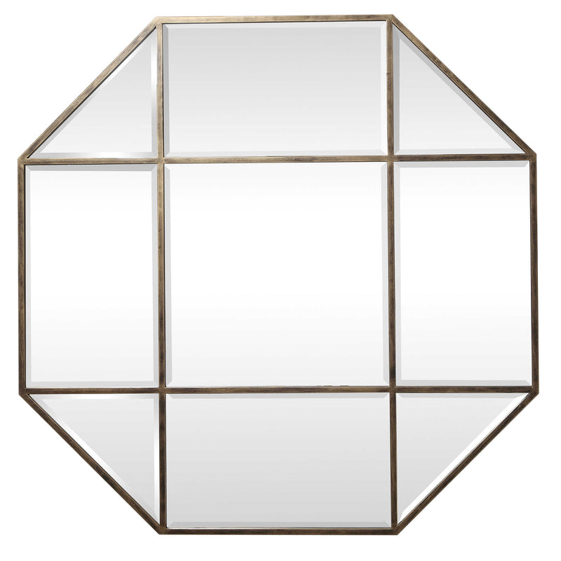 OCTAGON BRUSHED BRASS