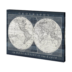 Old World Globe Canvas
