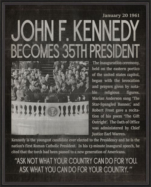 JOHN F. KENNEDY HEADLINER BLACK