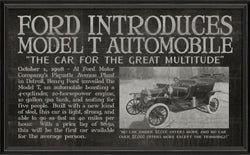 FORD INTRODUCES MODEL T HEADLINER