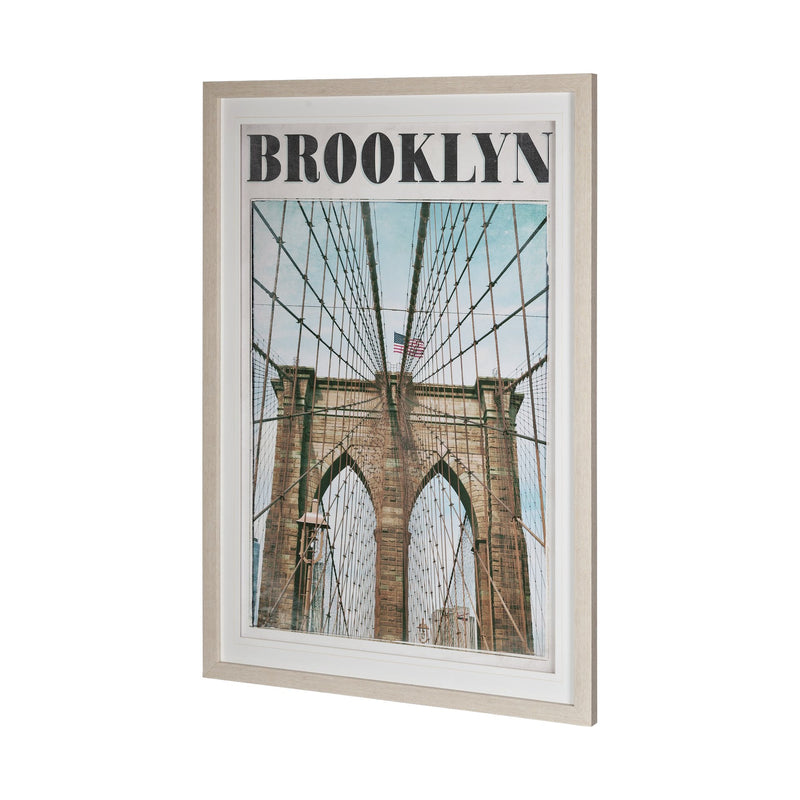 Vintage Brooklyn Framed Art