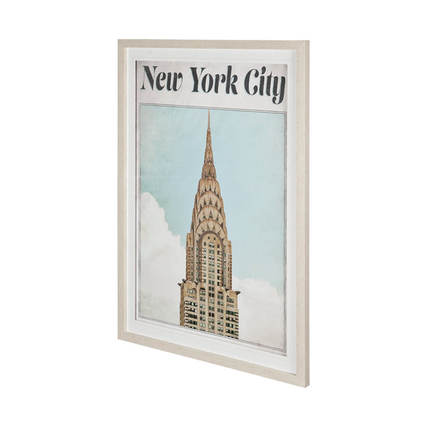 Vintage New York Framed Art