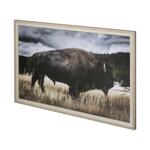 YELLOWSTONE BISON FRAMED ART