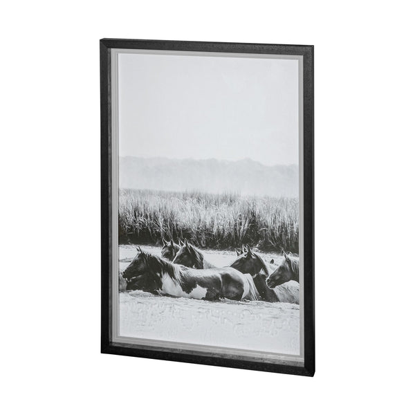Water Horses Framed Art