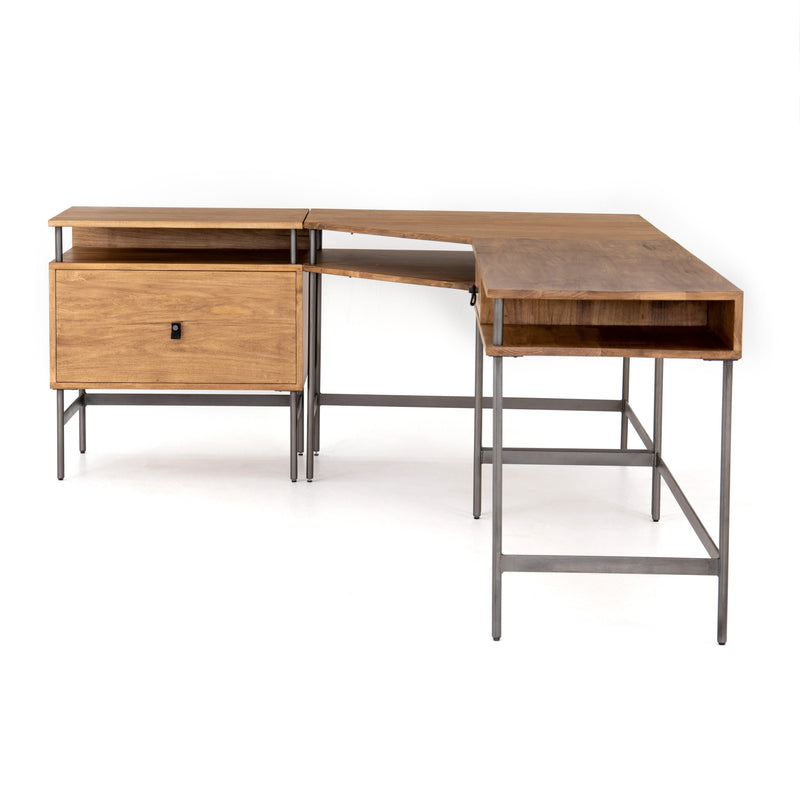 Jonze Desk System with Filing Cabinet