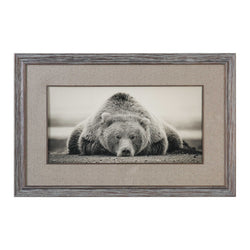 DEEP SLEEP BEAR FRAMED PRINT