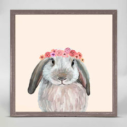 Bunny With Flower Crown Mini Canvas