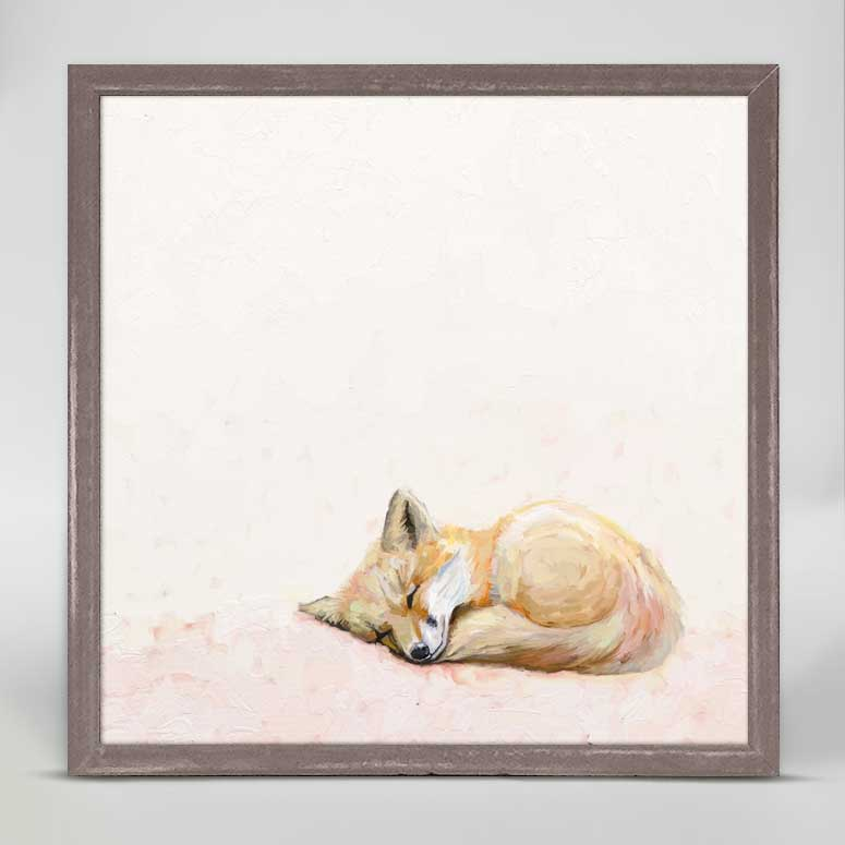 Curled Up Fox Mini Canvas