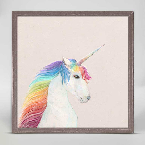 Rainbow Unicorn Mini Canvas