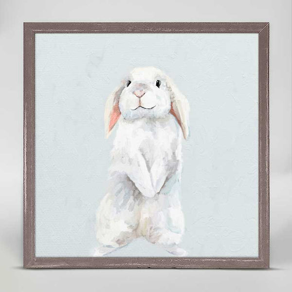 Bunny On Blue Mini Canvas