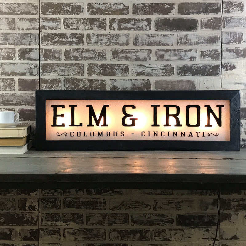 Custom Transom Lighted Sign