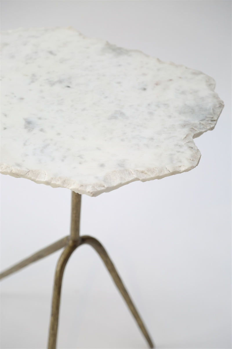 Organic Marble Side Table