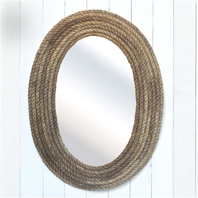 Oval Bridgeport Rope Mirror