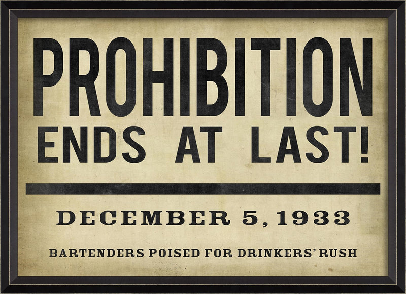 Prohibition Ends at Last! Headline