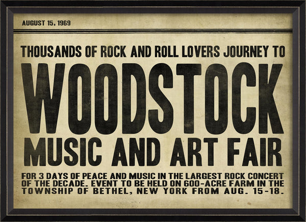Woodstock Headliner