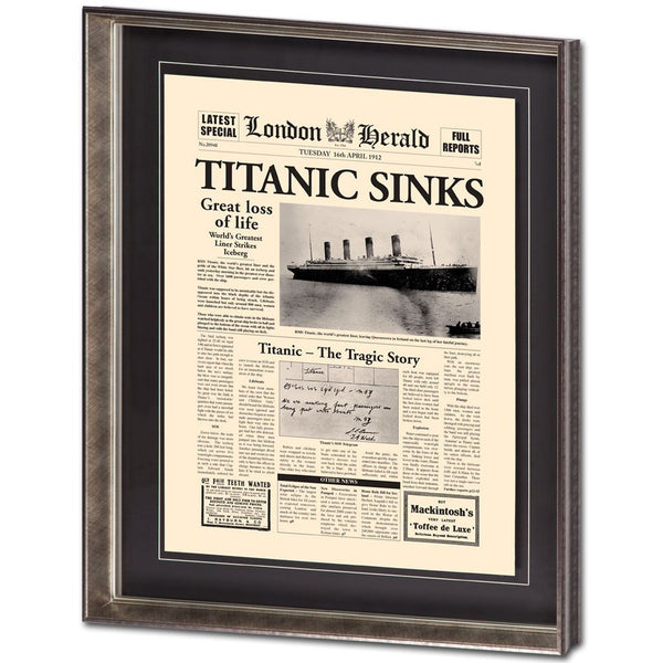 Titanic Sinks Wall Art