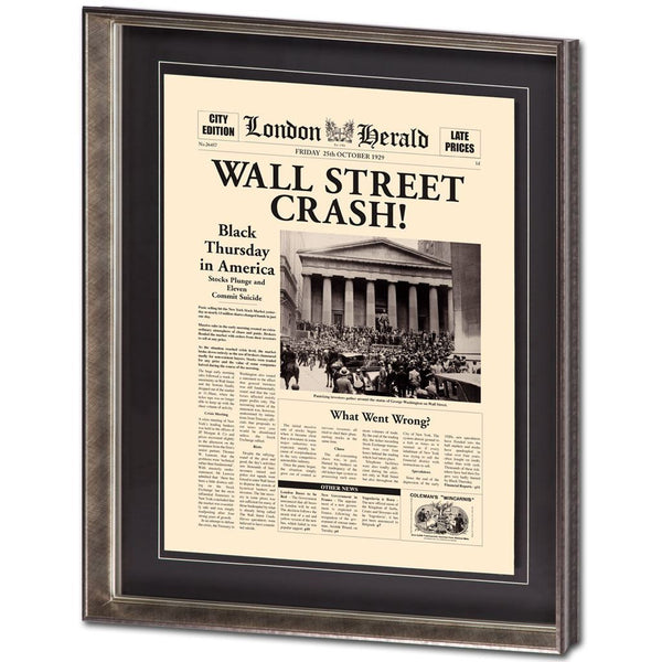 Wall Street Crash Wall Art