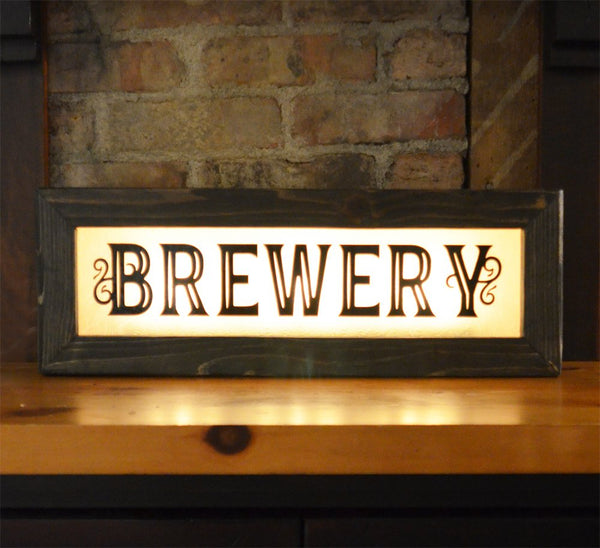 Brewery Lighted Sign