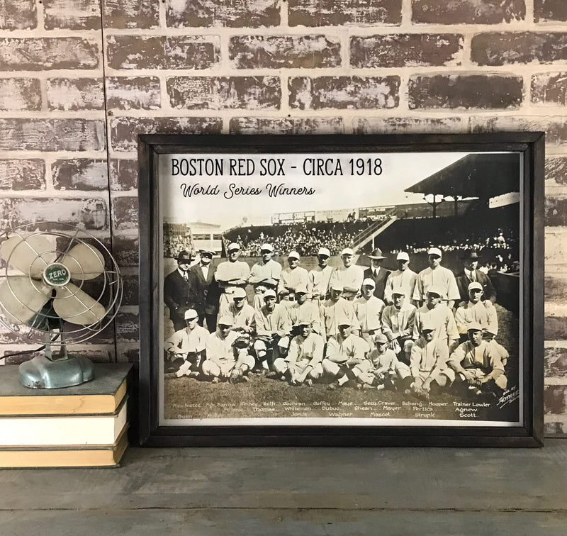 Boston Red Sox 1918 WS Win Photo