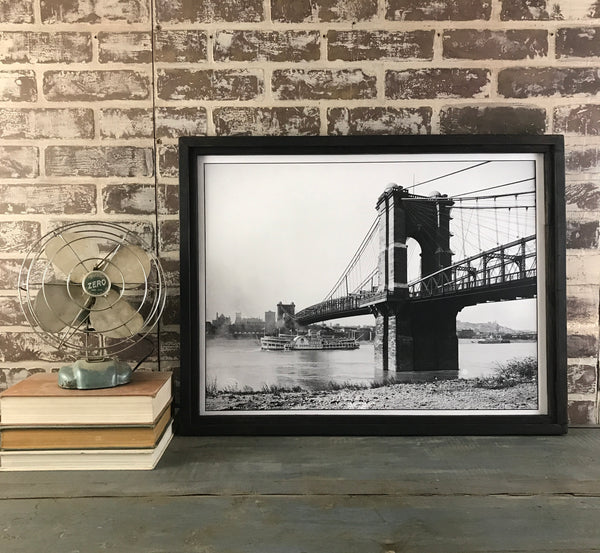 Roebling Bridge 1907 - Framed Canvas