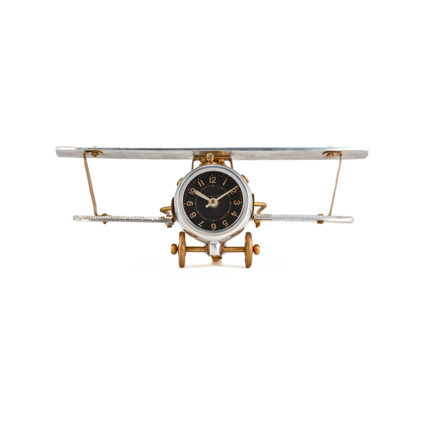 Biplane Table Clock