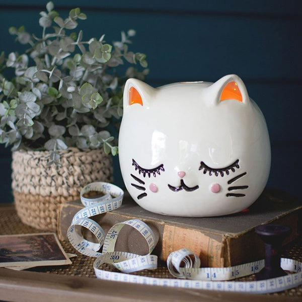 Ceramic Cat Night Light