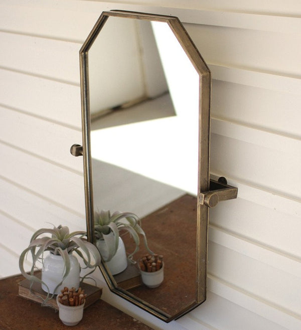 Brass Adjustable Wall Mirror
