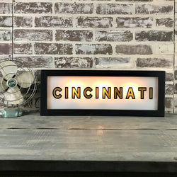 Black & Gold Lighted Sign