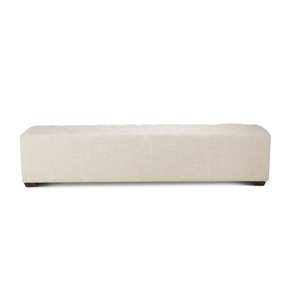 Grosvenor D'Orsay Linen Bench