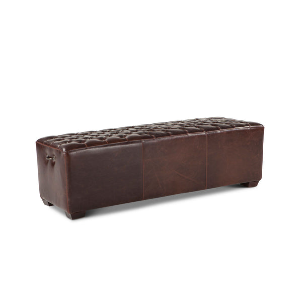D 'Orsay Leather Bench