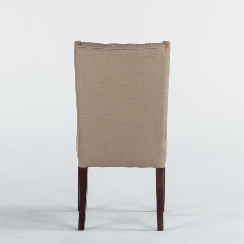 Dark Beige Linen & Walnut