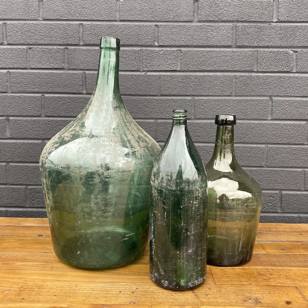Green Demijohn Bottle