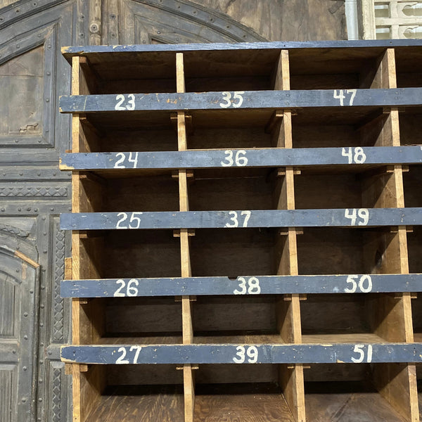 Numbered Wood Cubby