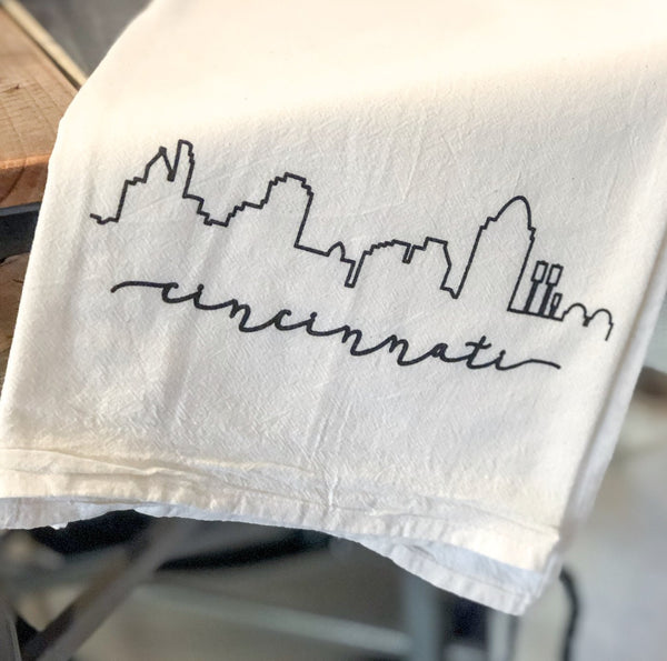 Cincinnati Skyline Tea Towel