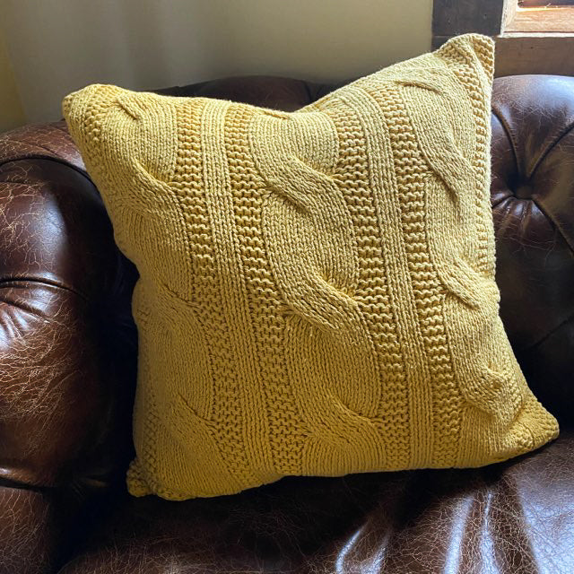 Cable Knit Design Pillow