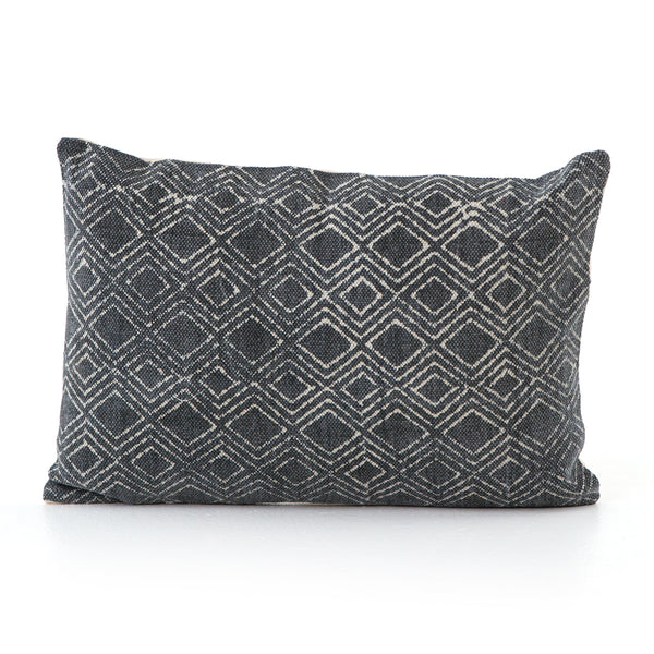 Charcoal Diamond Print Pillow