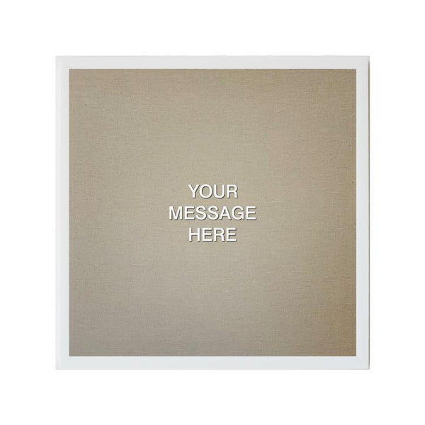 LOVE LETTER 24X24 WHITE / TAN