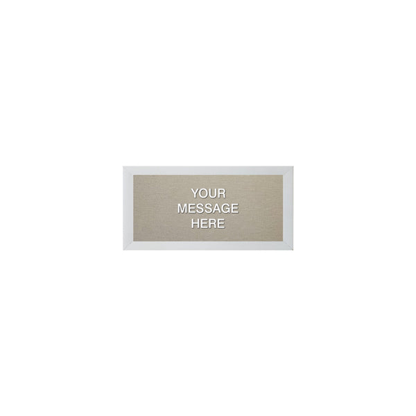 MINI LOVE LETTER 12X6 WHITE/TAN