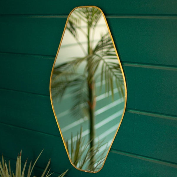 Brass Framed Organic Mirror