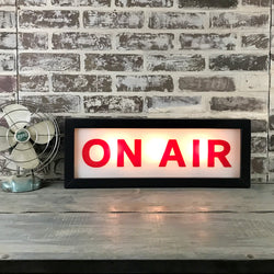 On Air Lighted Sign