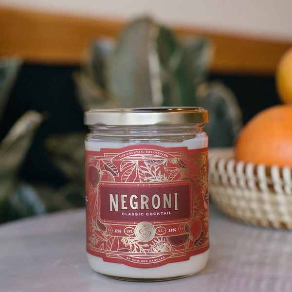 Negroni Cocktail Candle