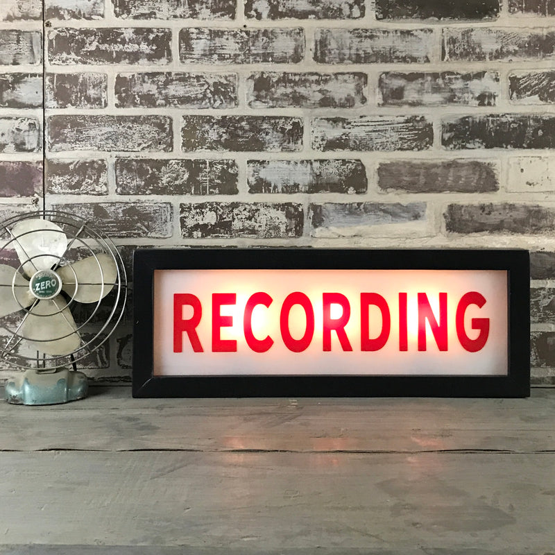 Recording Lighted Sign
