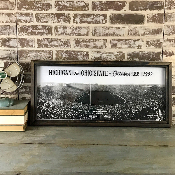 1927 Big House Opening Framed Art